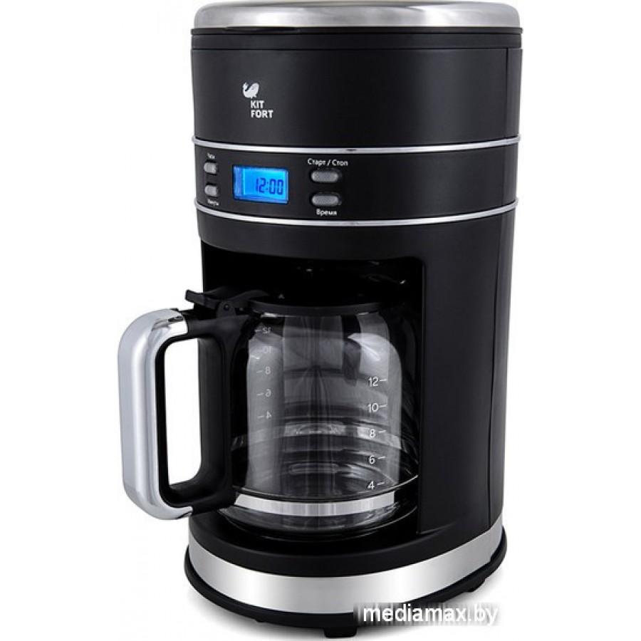 Капельная кофеварка Kitfort KT-704-2 (черный)