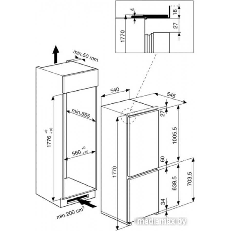 Холодильник Hotpoint-Ariston BCB 7030 AA F C